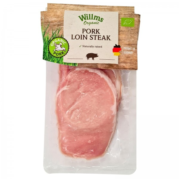 WILLMS ORGANIC FRESH GERMAN PORK LOIN STEAKS (200G)